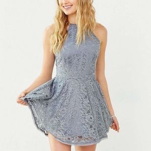 Urban Outfitters Kimchi Blue Haltered Lace Dress